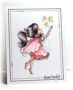 Star Stamp | Fairy Digital Stamp | Digi Stamp | Tiddly Inks