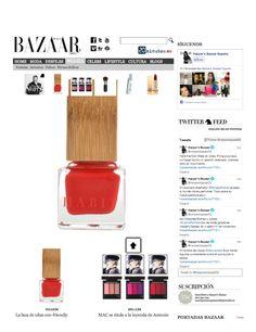 """""""La laca de uñas eco-friendly"""" on Harper's Bazaar España, 10/1/2013 #nails #nailpolish"""