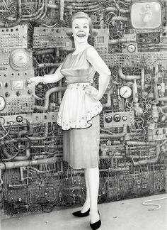 Laurie Lipton Sinister Futuristic Victoriana  Lazer Horse