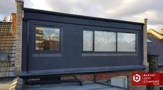 loft conversin dormer finished with slates Loft Conversion Options, Dormer Loft Conversion, House Extension Design, Extension Designs, Zinc Roof, Garage Loft, Industrial Interior Design, Slate Roof, House Extensions