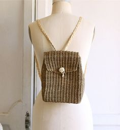 woven mini backpack  basket bag by bohemiennes on Etsy, $40.00
