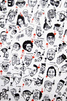 Hip Hop Playing Cards: While the time away or gamble with the high rollers of hip hop. Each card has hand drawn art by Japanese artist Sayori Wada, featuring legendary artists or groups of rap and hip hop. ($30)