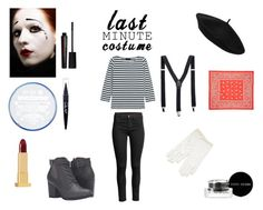 """""""Mime"""" by rivmisty ❤ liked on Polyvore featuring Michael Antonio, J.Crew, Maybelline, Bobbi Brown Cosmetics, Smashbox, Lipstick Queen and halloweencostume"""