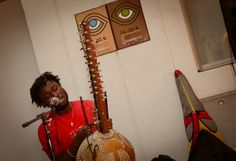 Guinean musician Sekou Kouyate plays the kora, ancient instrument from West Africa, at the opening evening of the Festival of Migrant film taking place in Ljubljana, Slovenia between 18 and 22 June to mark World Refugee Day. World Refugee Day, Central Europe, West Africa, Slovenia, Plays, Musicals, June, Film, Games