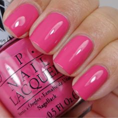 OPI Nail Polish Health & Beauty – – Opi – Hey Baby – N … - Bit. Opi Pink Nail Polish, Opi Nail Colors, Nail Polish Hacks, Opi Nails, Nail Polishes, Cute Pink Nails, Pretty Nails, Pink Toes, Nail Desighns