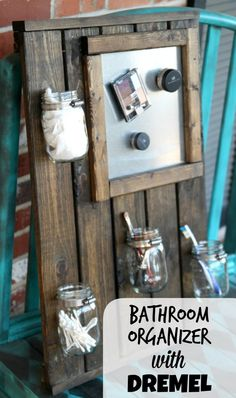 Love this DIY bathroom organizer! #diy #decor #bathroom