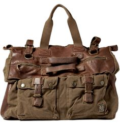 Belstaff Canvas and Leather Holdall Bag