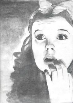 Hey, I found this really awesome Etsy listing at https://www.etsy.com/listing/175590795/charcoal-pencil-drawing-judy-garland