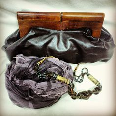 Bag and beads from Thailand, Italian scarf by  Only Black