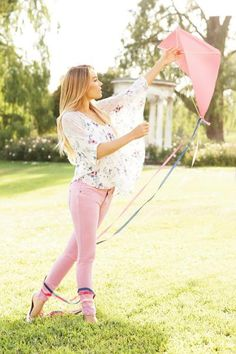 LC Lauren Conrad fall collection {colored pants}