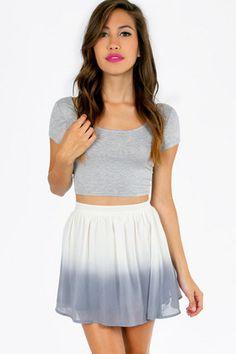 Say Ombre Skater Skirt