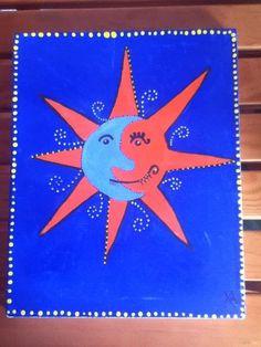El sol y la luna - The sun and the moon  Made by Erika Hernández