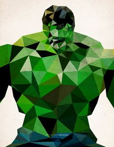 Polygon Heroes: Cubist Illustrations by James Reid