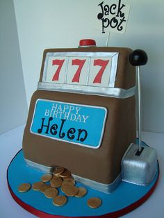 Slot machine cake - love for slot machine grows with every spin online casino slots, Casino Party, Casino Theme, Vegas Casino, Dog Treat Recipes, Healthy Dog Treats, Healthy Meals For Two, Healthy Baking, Cake Aux Raisins, Party Friends