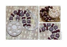 polymerclayfimo: Изделия - бусики, значки на свадьбу, часы, браслет.