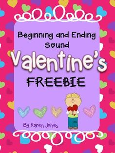 {FREEBIE!} Valentine's Day Beginning and Ending Sound Activity- Pinned by SOS Inc. Resources @sostherapy http://pinterest.com/sostherapy.