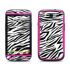 Samsung Galaxy S3 Phone Case Cover Decal  Pink Zebra by skunkwraps, $9.95