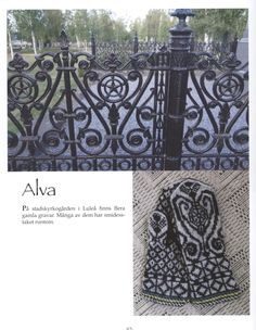 Alva, pattern design by Solveig Larsson from the leaflet Solveigs vanthäfte no.3