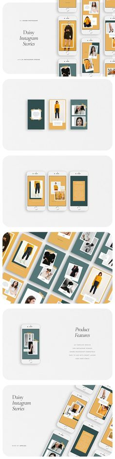 DAISY Instagram Stories by Aprilea on @creativemarket Best Instagram Stories, Graphic Design Studios, Instagram Story Template, Social Media Template, Design Your Own, Creative Business, Modern Design, Daisy, Gallery Wall