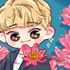 #chen #fanart #thewar #kokobop #exo Kpop Exo, Kawaii Chibi, Cute Chibi, Exo Cartoon, Exo Chen, Kokobop Exo, Baekhyun, Exo Stickers, Dog Comics