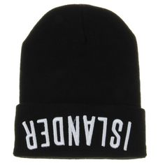 2f585251cbd Brand New Fall and Winter Beanie Hat Fashion Letter ISLANDER Knitting Wool  Men Women Caps Gorros
