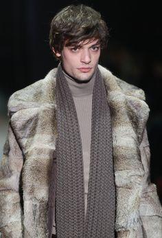 Men's Fall 2011 Fashion Trends - Gucci Fur Coat