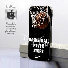 Nike Basketball Never Stop - Design for iPhone 5 Black Case | printcustom - Accessories on ArtFire