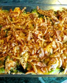 Chicken Broccoli Casserole with French Fried Onions