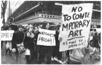 Patrick Gunns, No to Contemporary Art b/w poster, 150 x 230 cm.