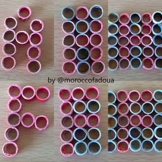 Steps to prepare an alphabet box using recycled paper ... Quilling box by @moroccofadoua