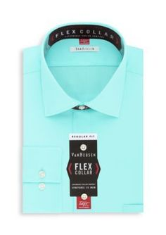 Van Heusen Mineral  ular-Fit Flex Collar Dress Shirt
