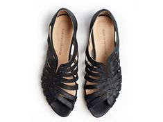 Gilly black flat sandals di TamarShalem su Etsy, $147.00