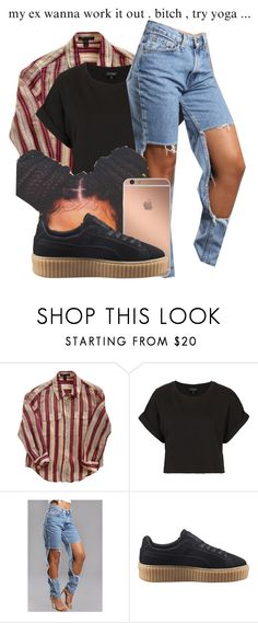 """4,5 seconds // Rihanna"" by jvixenz ❤ liked on Polyvore featuring Louis Vuitton, Topshop, Mura and Puma"