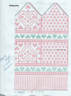 Kärlek i december – Dela dina vantar! Crochet Mittens Free Pattern, Crochet Gloves, Crochet Diagram, Knit Mittens, Knitting Socks, Baby Knitting, Knitting Charts, Knitting Stitches, Knitting Patterns
