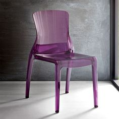 PURPLE LUCITE CHAIR