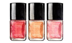 Chanel Nail Polish Illustration, Chanel Le Vernis Spring 2012 Collection, Red, Peach and Pink Colors. $10.00