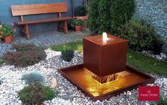 Gartenbrunnen Cortenstahl Fantasia