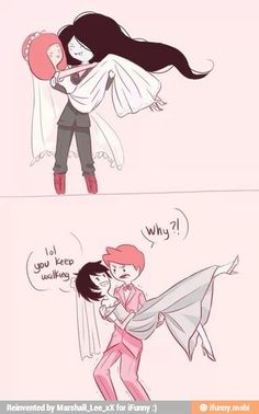 Marceline and Princess Bubblegum Prince Gumball and Marshall Lee