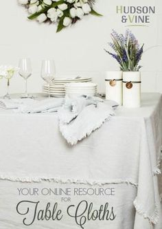 Spring and Summer table linens  ideas to meet your interior decorating style. Perfect for your farmhouse, vintage, french country, or rustic taste. Pick from many styles for your next stylish event or ever day ware.