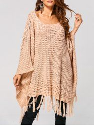 SHARE & Get it FREE | Hollow Out Tassels Cape Handkerchief SweaterFor Fashion Lovers only:80,000+ Items • New Arrivals Daily • Affordable Casual to Chic for Every Occasion Join Sammydress: Get YOUR $50 NOW!