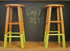 DIY Bar Stools  I am doing this....yessssss