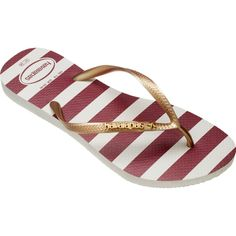 74162dde89e4 Havaianas Slim Stars And Stripes ( 32) ❤ liked on Polyvore featuring shoes