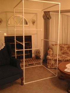 To Build A Portable Changing Room The framework of the changing room in PVC pipe. It is simple to put together and take apart.The framework of the changing room in PVC pipe. It is simple to put together and take apart. Pop Up Changing Room, Changing Station, Pool Changing Rooms, Craft Show Displays, Store Displays, Retail Displays, Merchandising Displays, Window Displays, Display Ideas