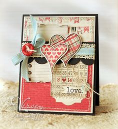 Focal point for Authentique Cozy Paper Pickled Paper Designs: Verve January Spotlight: Day Two Cool Cards, Diy Cards, Tarjetas Stampin Up, Valentine Love Cards, Heart Cards, Card Making Inspiration, Copics, Paper Cards, Creative Cards