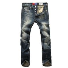 """FREE SHIPPING VERY IMPORTANT TO LOOK AT THE CHART FOR GOOD SIZE Gender: Men Item Type: Jeans Fit Type: Straight is_customized: Yes Style: """"European and American Style Brand Name: jeans Waist Type: Mid"""