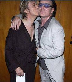 Bono (Paul David Hewson) and David Bowie