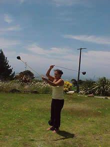 Laila avec poi toa Maori (New Zealand)