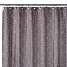 Master Bath Wellington Shower Curtain In Grey