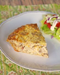 Chicken & Pecan Quiche | Plain Chicken
