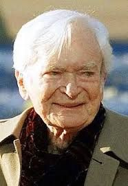"""Buddy Ebsen -- (4/2/1908-7/6/2003). American Singer, Dancer, Author & Actor. He portrayed Sergeant Hunk Marriner on TV Series """"Northwest Passage"""", Jed Clampett on """"The Beverly Hillbillies"""", Barnaby Jones on """"Barnaby Jones"""", Roy Houston on """"Matt Houston"""". Movies -- """"Breakfast at Tiffany's"""" as Doc Golightly, """"The Interns"""" as Dr. Sidney Wohl, """"Mail Order Bride"""" as Will Lane, """"The Beverly Hillbillies"""" as Barnaby Jones. He died of Respiratory Failure, age 95. Born: Christian Ludolf Ebsen, Jr."""